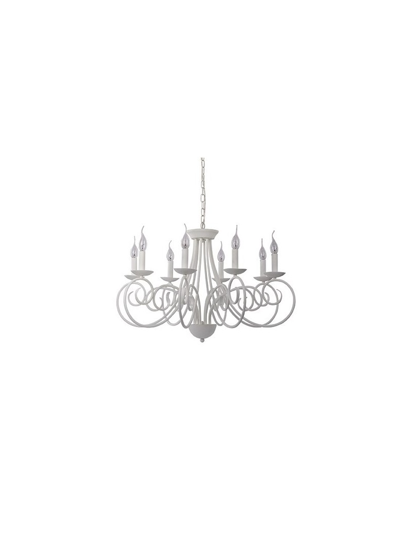 IDEAL LUX: Sem 8 bracci lampadario metallo modellato artigianale satinato in offerta