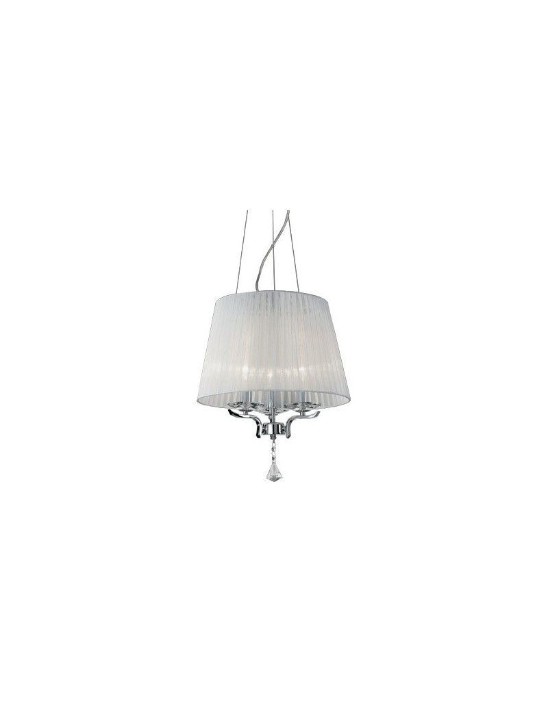 IDEAL LUX: Pegaso sp3 lampadario bobeches e pendagli in cristallo molato paralumi organza in offerta