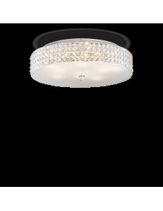 IDEAL LUX: Roma 9 luci plafoniera elementi quadrati in cristallo e vetro sabbiato in offerta