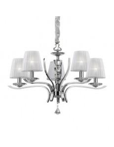 pegaso sp5 lampadario bobeches e pendagli in cristallo molato Paralumi organza