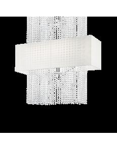 IDEAL LUX: Phoenix sospensione 5 luci con catene in cristallo molato paralume tessuto in offerta