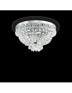 caesar pl5 cromo lampadario in cristallo molato con pendenti 5 luci