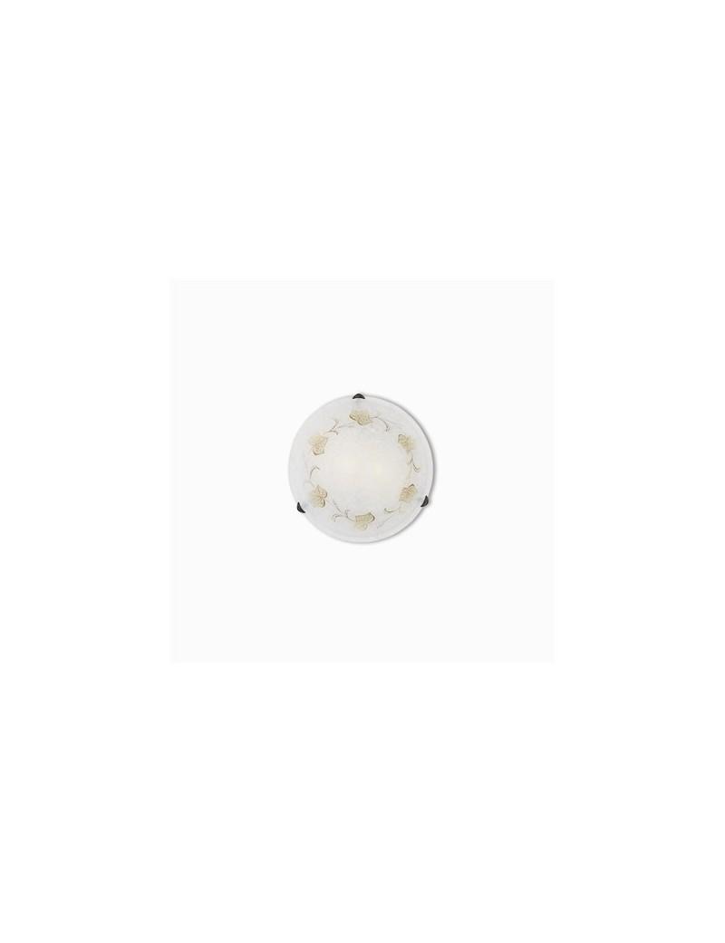 IDEAL LUX: Foglia plafoniera in vetro decorato a mano ambra 40cm in offerta