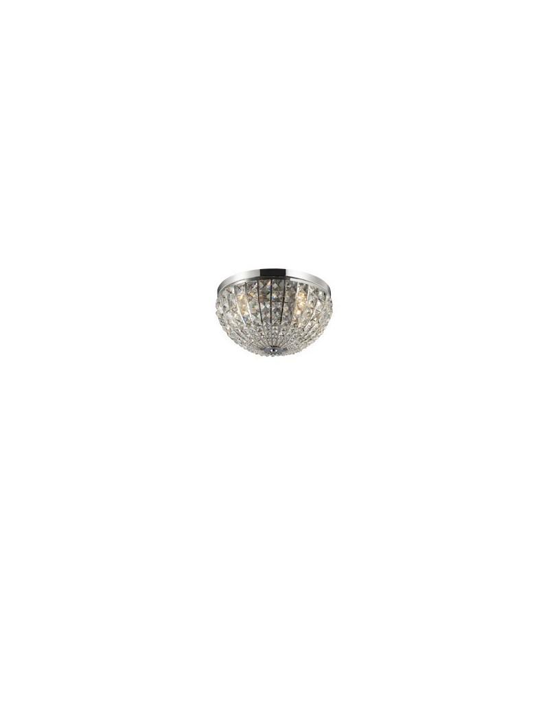 IDEAL LUX: Lampada Da Soffitto Plafoniera cristallo Calypso 4 Luci diam. 30 in offerta