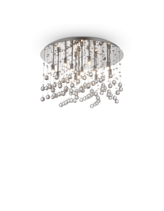 Moonlight cromo 12 luci Lampada Da Soffitto Plafoniera ottagoni e sfere in cristallo