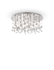 IDEAL LUX: Moonlight cromo 15 luci Lampada Da Soffitto Plafoniera ottagoni e sfere in cristallo in