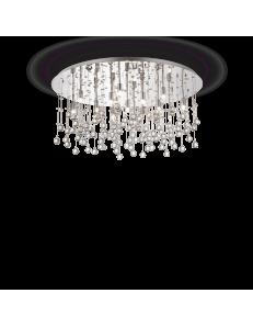 Moonlight cromo 15 luci Lampada Da Soffitto Plafoniera ottagoni e sfere in cristallo