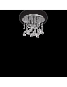 Moonlight cromo 5 luci Lampada Da Soffitto Plafoniera ottagoni e sfere in cristallo