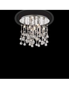 Moonlight cromo 8 luci Lampada Da Soffitto Plafoniera ottagoni e sfere in cristallo