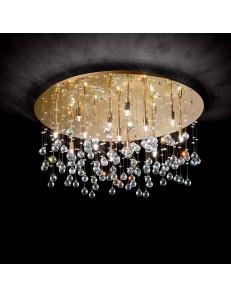 Moonlight oro 15 luci Lampada Da Soffitto Plafoniera ottagoni e sfere in cristallo