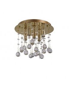 Moonlight oro 5 luci Lampada Da Soffitto Plafoniera ottagoni e sfere in cristallo
