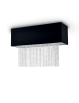 IDEAL LUX: Phoenix plafoniera 5 luci nero catene in cristallo molato paralume tessuto in offerta