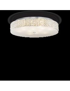 IDEAL LUX: Roma 12 luci plafoniera elementi quadrati in cristallo e vetro sabbiato in offerta
