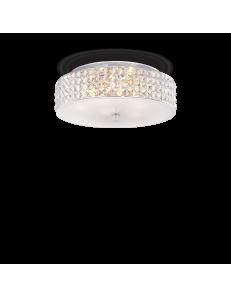 IDEAL LUX: Roma 6 luci plafoniera elementi quadrati in cristallo e vetro sabbiato in offerta