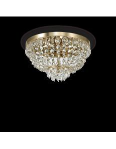 IDEAL LUX: Caesar pl5 oro lampadario in cristallo molato con pendenti 5 luci in offerta