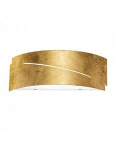 CLOE piccola applique lampada parete metallo foglia oro gea luce e14