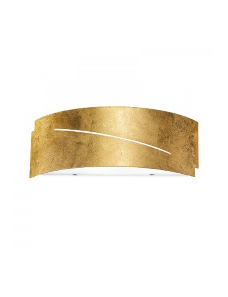 : CLOE piccola applique lampada parete metallo foglia oro gea luce e14 in offerta