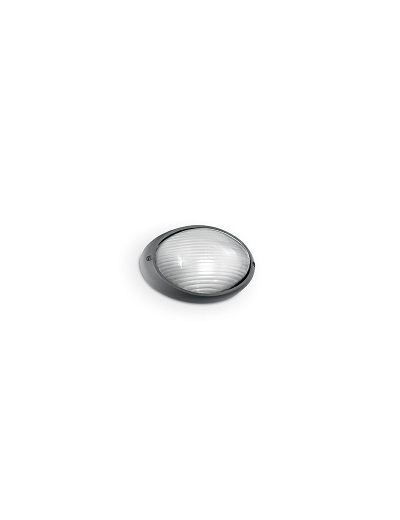 IDEAL LUX: Mike ap1 small applique alluminio pressofuso diffusore pyrex antracite in offerta