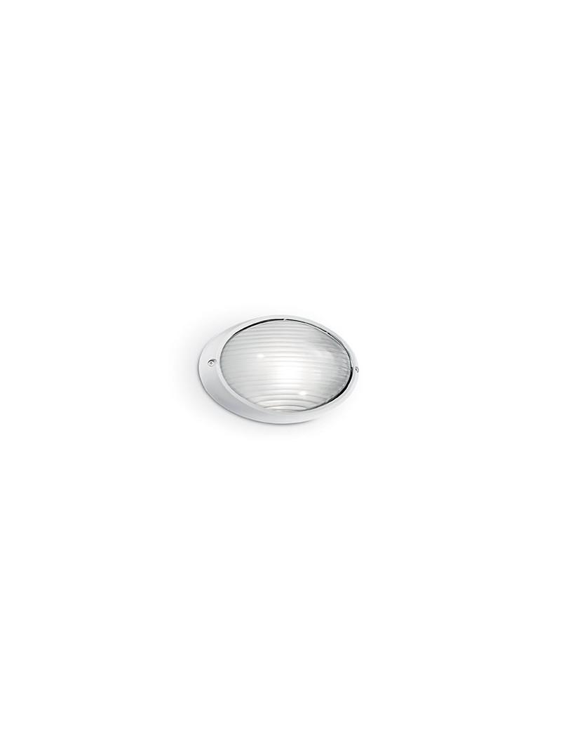 IDEAL LUX: Mike ap1 small applique alluminio pressofuso diffusore pyrex bianco in offerta