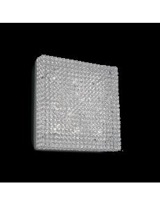 Idea Lux: Admiral 10 luci applique parete diffusore cristallo