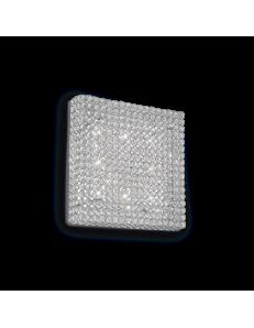 Idea Lux: Admiral 8 luci applique parete diffusore cristallo