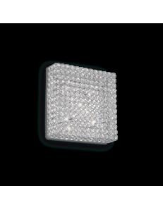 IDEAL LUX: Admiral applique plafoniera quadrata parete diffusore cristallo molato 6 luci in offerta