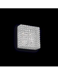 Admiral 4 luci applique plafoniera quadrata parete diffusore cristallo molato