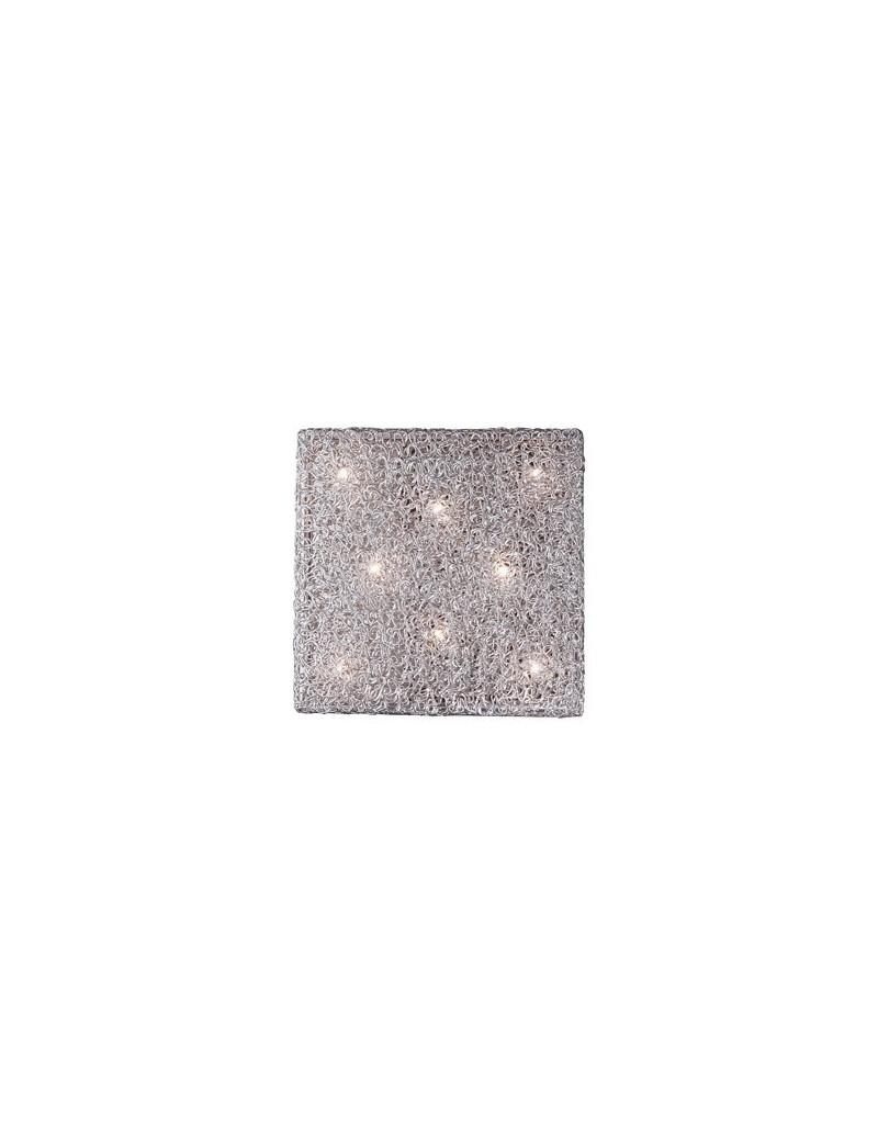 IDEAL LUX: Quadro plafoniera applique cubico fusione 8 luci alluminio in offerta