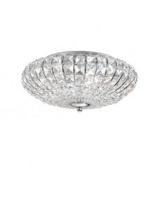 IDEAL LUX: Virgin 5 luci applique plafoniera decorato con perle e quadrati in cristallo in offerta