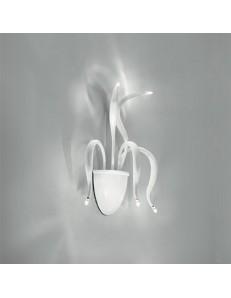 elysee applique 5 luci luci bracci in fusione bianco di metallo