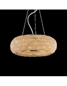 pasha oro lampadario elegante diffusore perle di cristallo 10 luci
