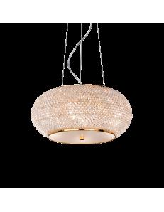 pasha oro lampadario elegante diffusore perle di cristallo 6 luci