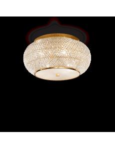 pasha oro lampada soffitto elegante diffusore perle di cristallo 10 luci