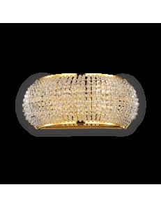 pasha oro applique elegante diffusore perle di cristallo 3 luci