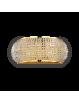 IDEAL LUX: Pasha oro applique elegante diffusore perle di cristallo 3 luci in offerta