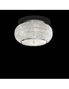 pasha cromo lampada soffitto elegante diffusore perle di cristallo 6 luci