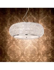 pasha cromo lampadario elegante diffusore perle di cristallo 10 luci