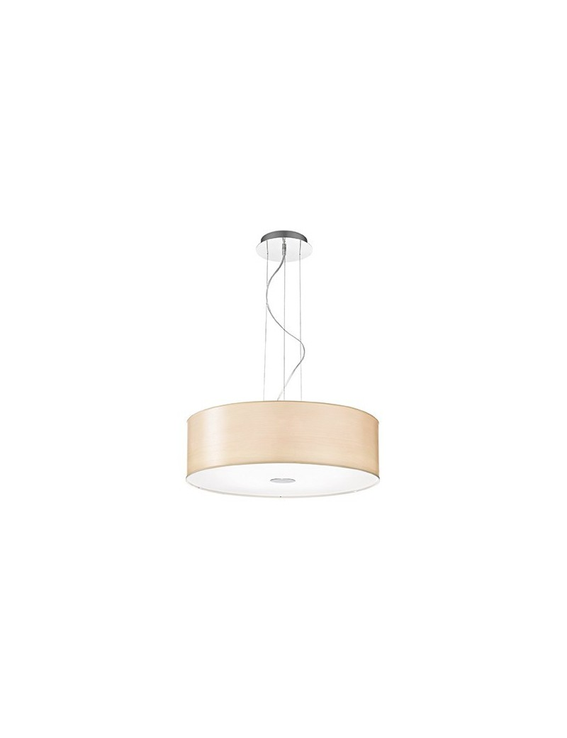 IDEAL LUX: Woody SP5 Lampadario effetto legno a 5 luci BETULLA ideal lux in offerta