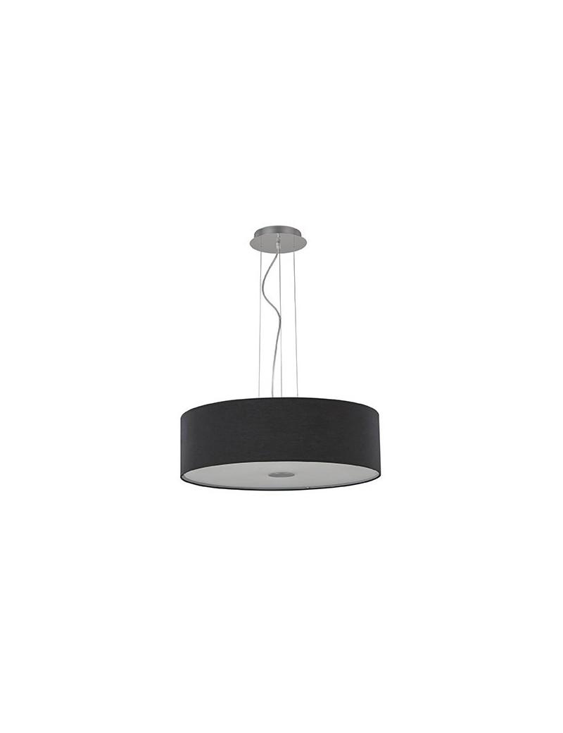 IDEAL LUX: Woody sp5 lampadario effetto legno a 5 luci nero in offerta