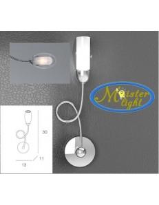 TOP LIGHT: Feeling applique moderno cromo 1 luce vetro trasparente in offerta