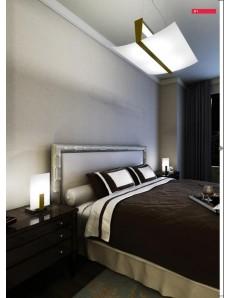 TOP LIGHT: Wood lumetto abat jour legno vetro satinato foglia oro in offerta
