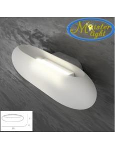 TOP LIGHT: Across applique sferica con apertura superiore ed inferiore vetro bianco in offerta
