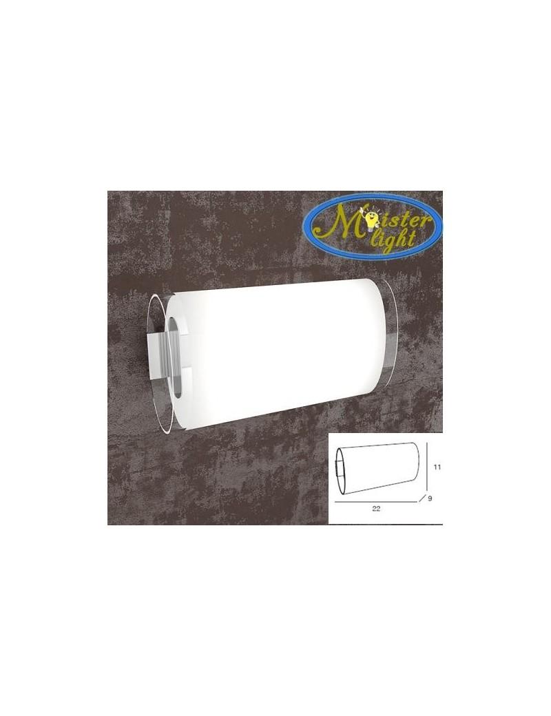 TOP LIGHT: Oval tube applique ovale in metallo vetro in pyrex stinato bordi trasparenti in offerta