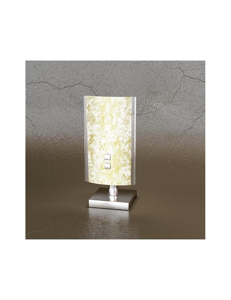 TOP LIGHT: Shadow lume foglia oro lumetto in metallo con lastra extrachiaro in offerta