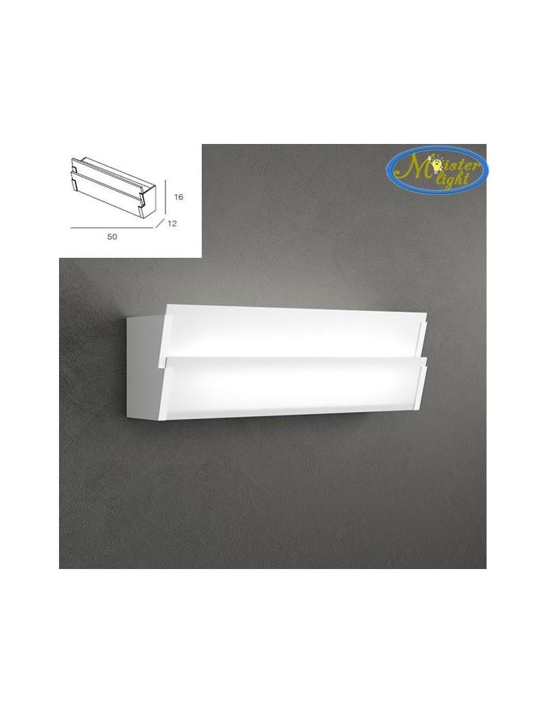 TOP LIGHT: Roof applique parete particolare grande doppia diffusione luce vetro serigrafato in