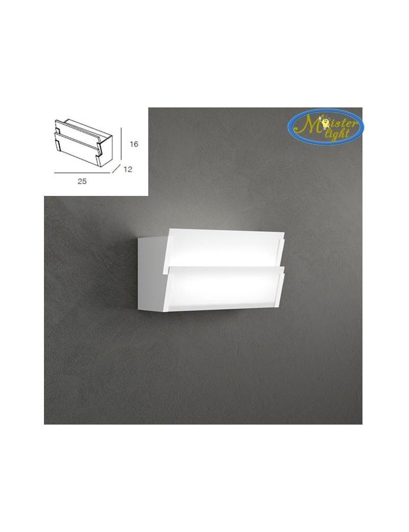TOP LIGHT: Roof applique parete particolare media doppia diffusione luce vetro serigrafato in