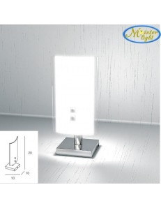 TOP LIGHT: Tray lumetto in vetro extrachiaro montatura metallo bianca in offerta