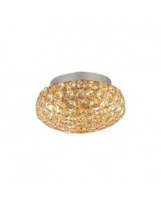 IDEAL LUX: King pl3 applique plafoniera oro con ottagoni di cristallo in offerta