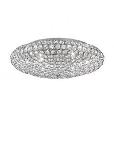 IDEAL LUX: King pl9 plafoniera soffitto cromo con cristalli incastonati in offerta