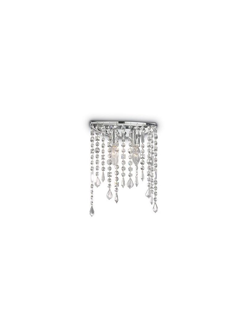 IDEAL LUX: Rain applique parete con pendagli in cristallo ellittica cromo in offerta